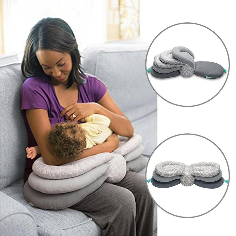 Adjustable Baby Multifunction Nursing Pillow With Layered Washable Cover