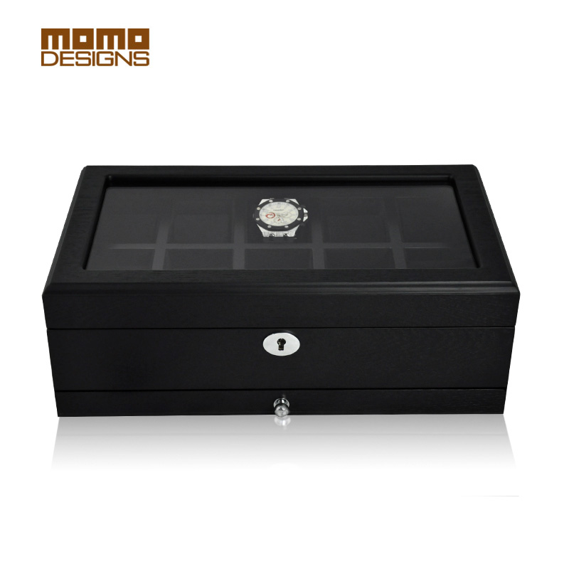 Luxury Wood Watch Box Packagin Top Window For 10 Watches Storage Box Wooden  Watch Display High Quality Watch Case /Men Gift