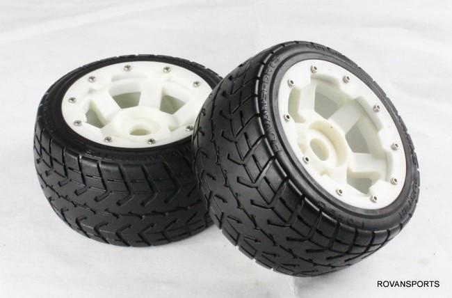 5B baja  rear road tires set  with nylon hub  85030-1 quantum s top road hub ql z52f rear hub ql z91r