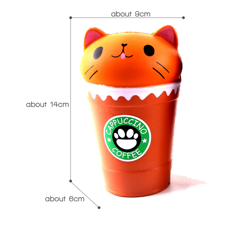 Hot DealsToys Scented Jumbo Coffee-Cup Squish Antistress Funny Children Slow Rising Cat for Boys