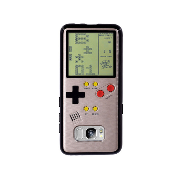 Retro Gameboy Tetris Phone Case For Samsung Galaxy S8 S9 Play Game Console Cover Gift Siliconen For S9 Plus mobile shell coque