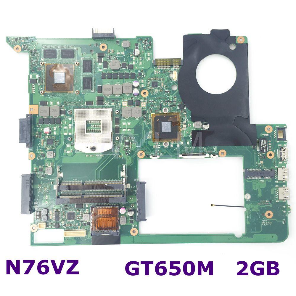 N76VZ HM76 GT650M 2G N13P-GT-A2 REV 2.2 mainboard For ASUS N76VZ N76V N76VM laptop motherboard DDR3 100% Tested Working Well 100% original n13p gt a2 n13p gt a2 bga chipset