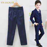 YN CASA 2018 Grandi Ragazzi Pantaloni Pantaloni Formali Pantaloni Per Bambini Spettacoli Vestito di Mutanda Pantalon Garcon Enfant Studente Pieno Pantaloni Ragazzo