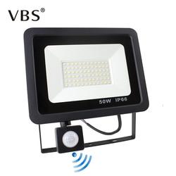 Pir sensor de movimento conduziu a luz de inundação 10w 20 30 50 220v projectores lâmpada ip66 refletor à prova dwaterproof água ao ar livre luz do ponto