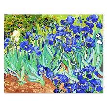 Digital oil painting DIY decoration living room bedroom sofa background famous  Van Gogh irises