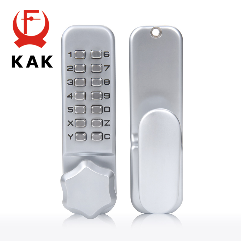 KAK Zinc Alloy Keyless Combination Mechanical Digital Door Lock No Power Push Button Code Locks For Home Furniture Hardware high quality zinc alloy hasp latch lock door chain security anti theft clasp window cabinet locks for home hotel hardware k77