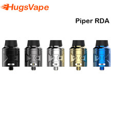 Original Hugsvape Piper RDA Tank with 510 pin Squonk Pin Dual Wertical coil Vape Atomizer for E Cigarette mod Vaper(China)