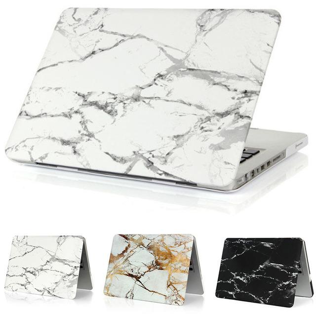 Mármore matte crystal case para apple macbook air 13 caso air 11 pro 13 Retina 12 13 15 Bolsa para Laptop para Mac Book pro 13 caso