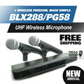 Free Shipping! BLX BLX288 BLX88 PG 58A UHF Wireless Microphone Karaoke System With PG58 Dual Handheld Transmitter Microfone Mic