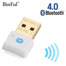 Binful Bluetooth Adapter USB Dongle Bluetooth 4.0 Receiver for PC Computer Wireless Mouse Mini Bluetooth Transmitter Adapter(China)