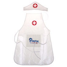 Hot Kids Simulation Role Play Costume Doctor's Overall White Gown Nurse Uniform Hospital Cosplay Doctor Suits For Children Party(China)