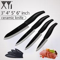 XYj Ceramic Knives Kitchen Knives Tools Zirconia Blade 3 4 5 6 Inch Chef Cook S