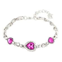 Buy rhinestone bangle ocean blue bracelet chain heart and get free ... 39439a15e3d0