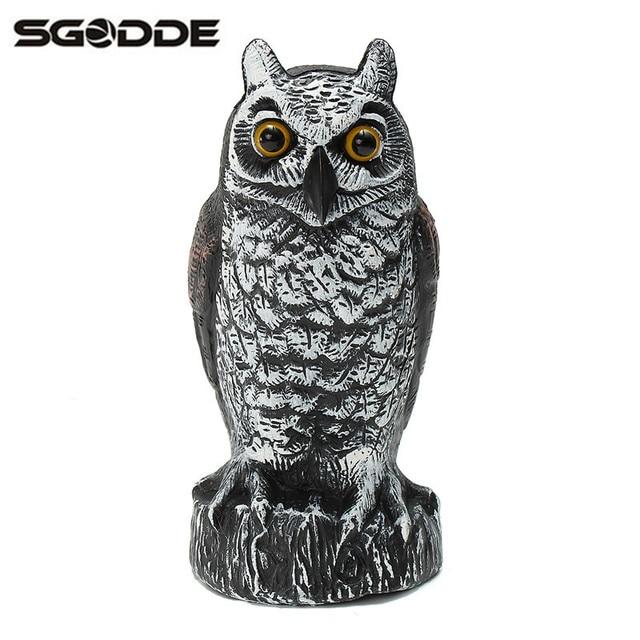 New 12x26cm Plastic Fake Standing Owl Hunting Shooting Decoy Pest Rodents  Deterrent Repeller Scarer Garden Decor