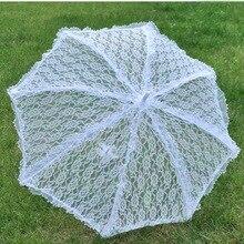 Кружевной свадебный зонтик стильный западный стиль зонтик кружева Флер Зонтик Украшение Свадебная невеста зонтик