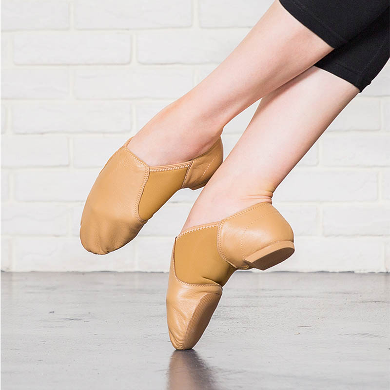 2019 Genuine Leather Stretch Slip On Jazz Dance Shoes For Women Men Exercise Shoe Soft Ballet Shoe Training Shoe Sneakers 34-44