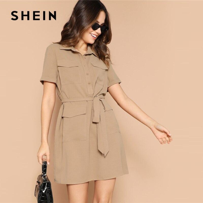 ae1e72d5bd03d SHEIN Boho Renkli Büzgülü Manşet Karışık Baskı Fit ve Flare Yaz uzun elbise  Kadın Derin V