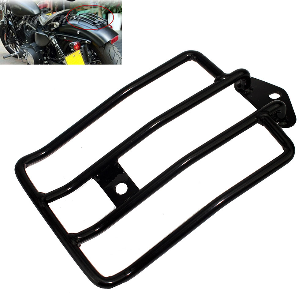 Motorcycle Rear Solo Seat Luggage Rack For Harley Sportster Iron XL1200 883 2004-2019 2018 2017 2016 2015 2014 2013 2012 2011