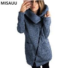 MISAUU 5XL Winter Jacket Women Female Long Coat Pocket Slim Warm Overcoat Turn-down Collar Outwear manteau femme hiver Plus size