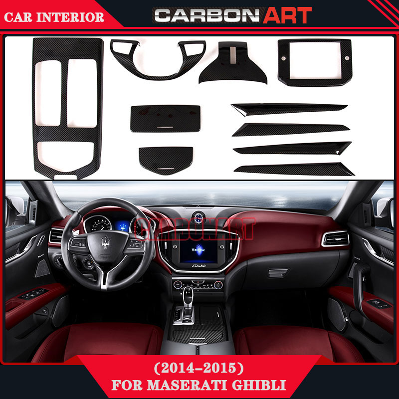 for maserati ghibli 2014 2015 carbon cf material sticker parts car accessories for inteior. Black Bedroom Furniture Sets. Home Design Ideas