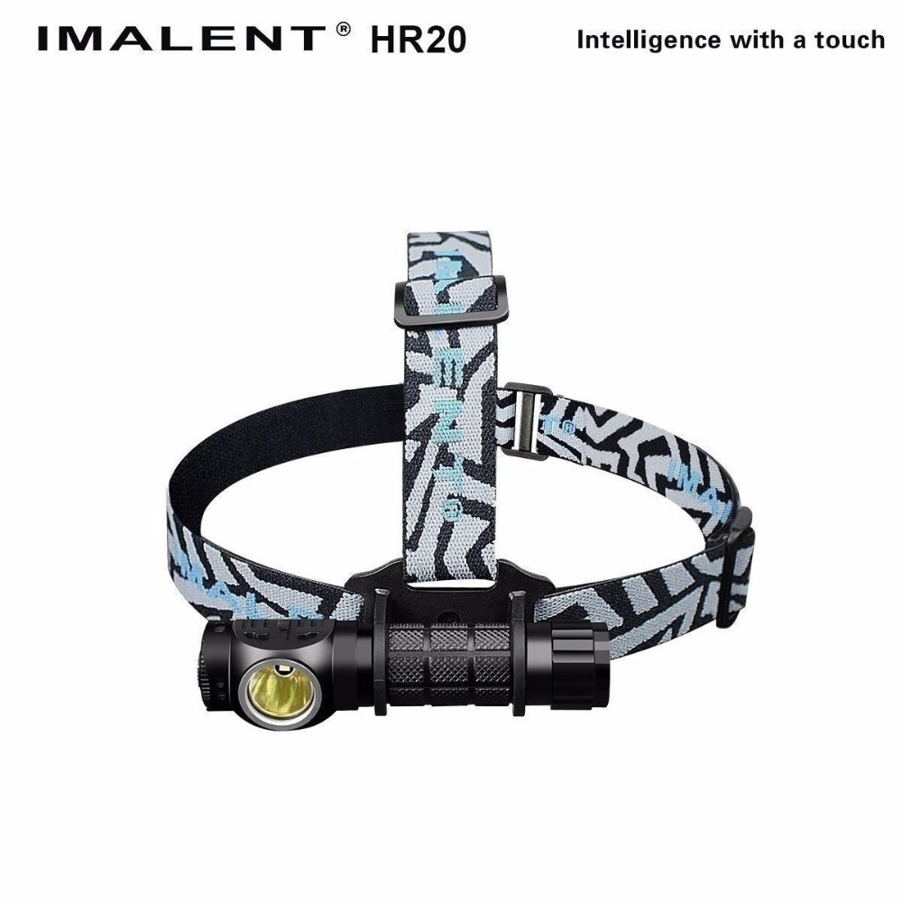 USB rechargeable headlamp IMALENT HR20 CREE XP-L HI LED max. 1000LM beam throw 225 meters headlight + battery + USB cabl fenix cree xp e2 r5 led 450lumens 4aa batteries headlamp headlight