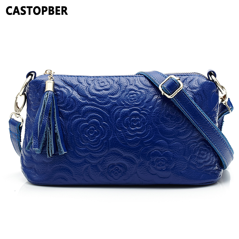 Designer Fashion Women Embossed Flower Genuine Leather Bag Famous Korean Cowhide Chain Bag Shoulder Tassel Messenger Bag Famous new brand genuine leather women bag fashion retro stitching serpentine quality women shoulder messenger cowhide tassel small bag