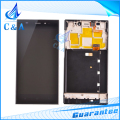 For Xiaomi 3 lcd mi3 m3 screen display with touch digitizer with frame assembly replacement parts black 1 piece free shipping