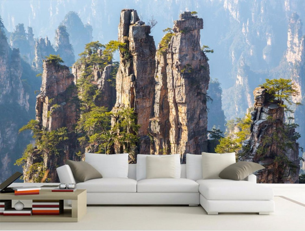 3D Mural Wallpaper landscape TV Bbackdrop Wallpaper For Walls Living room 3D Mural Wallpapers Kitchen Background custom wallpaper for walls 3 d photo wall mural pastoral country road tv walls 3d nature wallpapers for living room