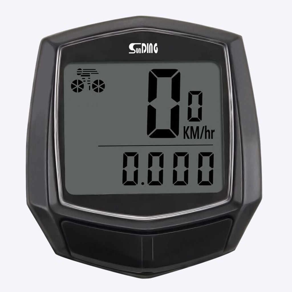 คอมพิวเตอร์จักรยานกันน้ำแบบมีสายมัลติฟังก์ชั่นไร้สายจักรยาน LCD คอมพิวเตอร์ Speedometer ขี่จักรยานระยะทาง Accessories3.31