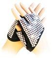 Recorte del corazón del semi dedo guantes paillette ds rhinestone traje completo dedo guantes hermoso vestido de baile de jazz arena