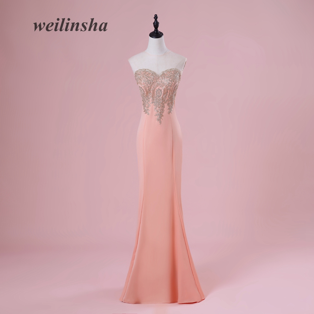 weilinsha Sexy See Through O-Neck   Bridesmaid     Dresses   2018 Robe Demoiselle D'honneur   Dress   Elegant Longo