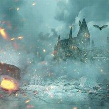 Harry Potter Deathly Hallows Hogwarts Castle Owl Flame Bokeh backdrop  Computer print children kids backgrounds( 1b9ad2e8da1f