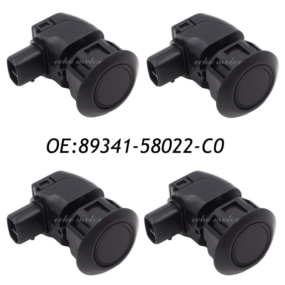 4PCS 89341-58022-C0 For Toyota ALPHARD Parking Sensor Ultrasonic Sensor For GRS190,UZS190,MNH10 CLEARANCE & BACK SONAR 4 pcs auto parts new original ultrasonic parking sensor 89341 76010 c0 89341 76010 8934176010 for lexus gs450 hybrid