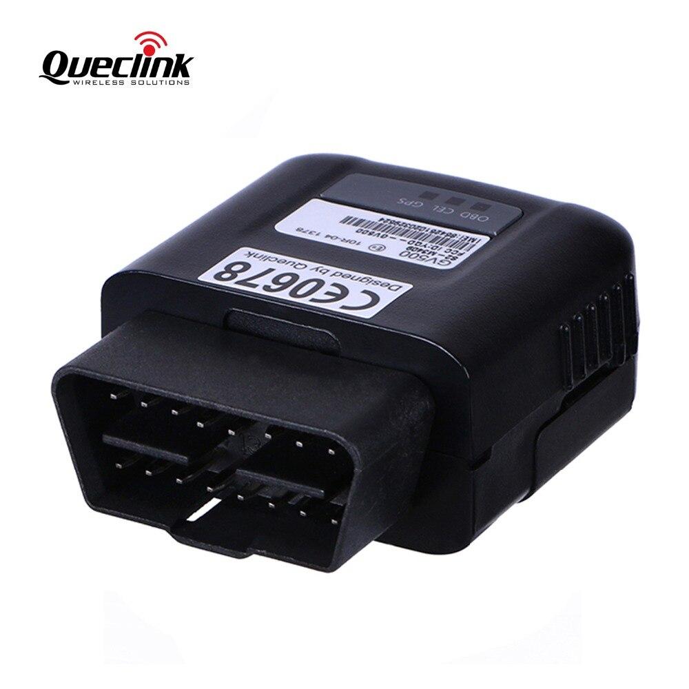 Traqueur de voiture GPS traqueur OBD GV500 Queclink localisateur GSM GPRS dispositif de suivi en temps réel du véhicule connectivité OBDII installation facile GPS