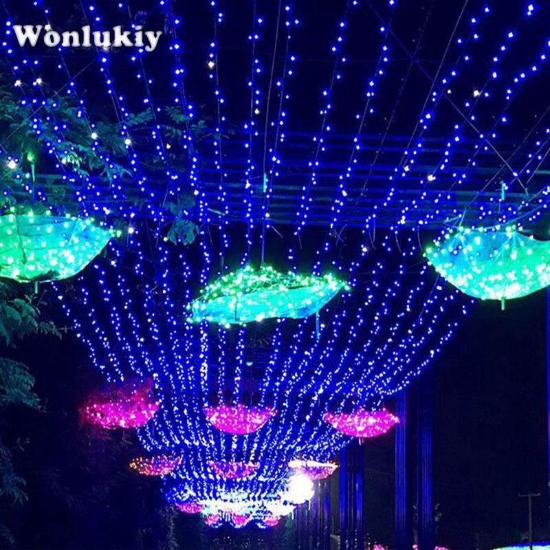 Humorous Wonlukiy Dc12v 50m 165ft 500led Copper Wire Led String Fairy Light White Warm White Rgb Blue For Wedding Christmas Holiday Excellent Quality Lights & Lighting Led Lighting