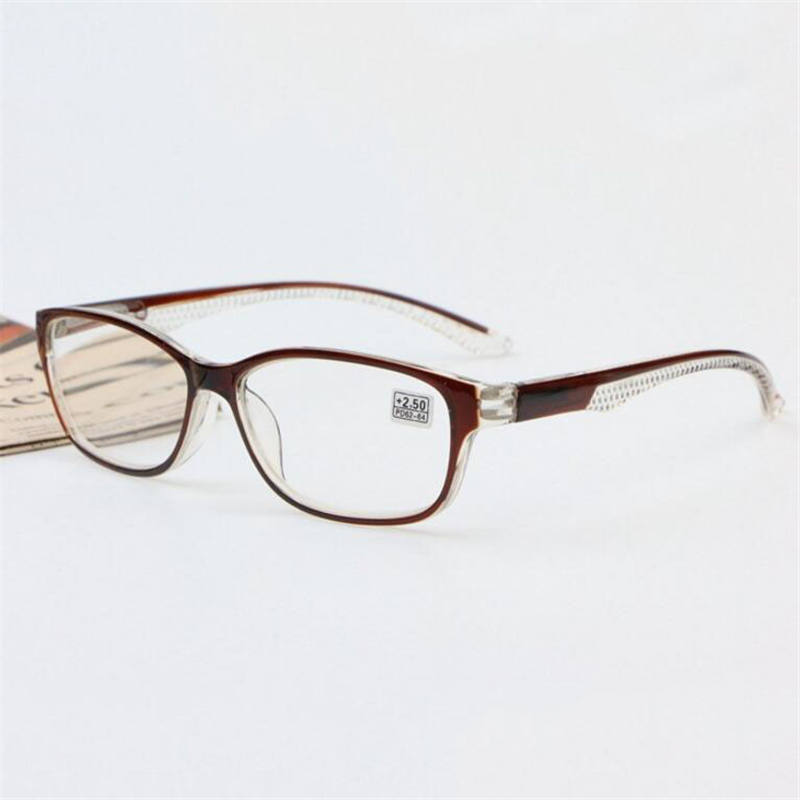 Óculos de leitura de armação de plástico, homem preto, feminino, universal, oval, espelhado, dioptria + 100 125 150 + 175 para + 400 r118