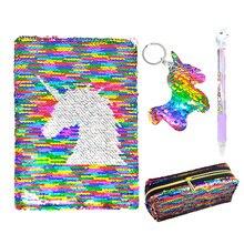 Милый мультяшный Единорог, записная книжка для девочек, дневник, книга для журналов с ручкой, чехол для карандашей, висящий единорог, Студенческая дочь, школьный подарок