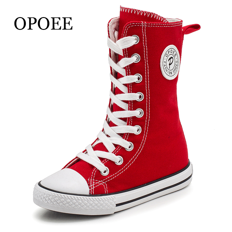OPOEE 2019 Children Canvas Shoes Boys And Girls Shoes High-top Breathable Board Shoes Spring And Autumn Shoes
