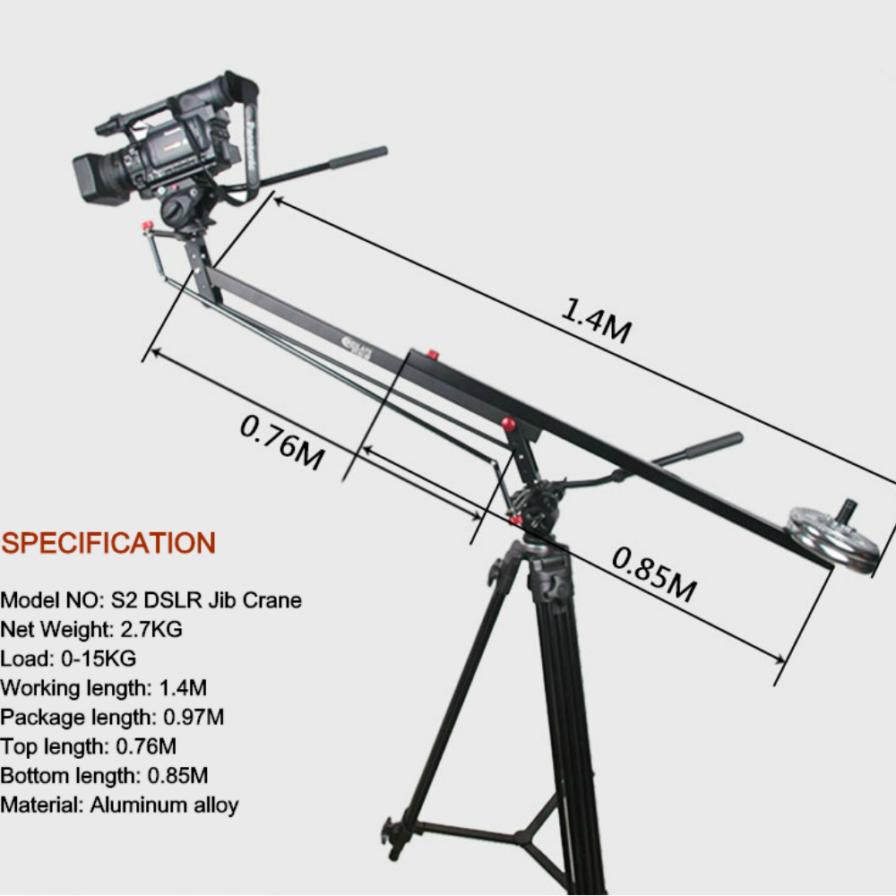 NEW 15KG load MINI DSLR Jib crane Portable Video camera jib crane 1.4M length Lightweight jib цена и фото