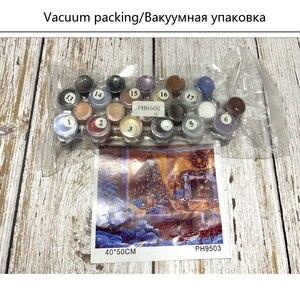 Image 3 - YANXIN DIY ציור מסגרת מספרי פרחי תמונות מלא ערכות אקריליק צבע על בד בית תפאורה תמונות RSB8169