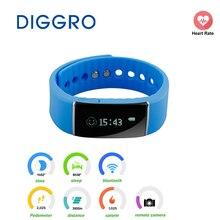 Diggro S55 здоровья трекер Smart Браслет Шагомер калорий браслет напоминание для androis IOS OLED Группа сигнализации Sleep Monitor