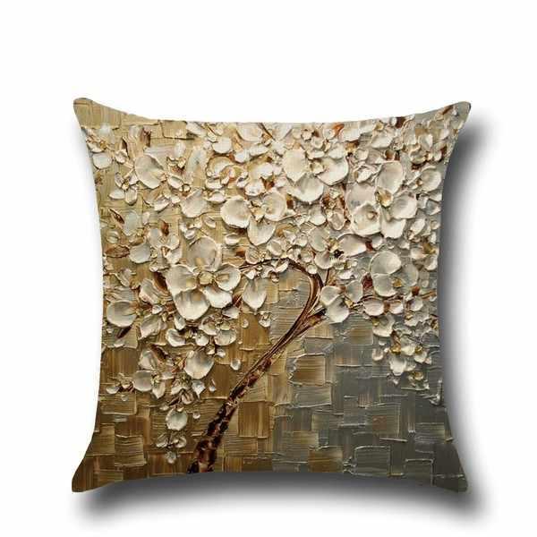 DIDIHOU 1 قطعة 3D لينة القطن غطاء من الكتان للوسائد 3D اللوحة شجرة زهرة غطاء الوسادة رمي المخدة لغرفة النوم