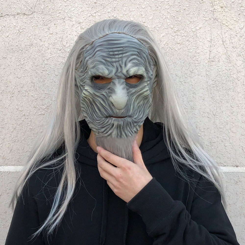 Game of Thrones 8 The White Walkers Mask Cosplay Night King Zombie Latex Masks Halloween Party Costume Props Drop Shipping 2