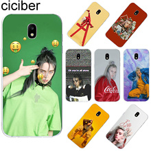 ciciber For Samsung Galaxy J 5 2 3 4 1 6 7 8 Pro Core Prime mini Plus 2016 2017 2018 Soft TPU Phone Cases Singer Billie Eilish