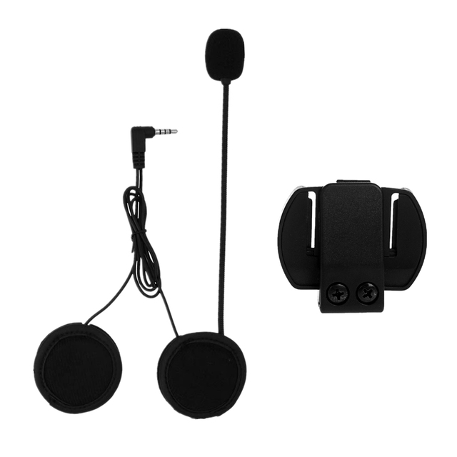 2PCS 3.5MM EJEAS V6 V6 Pro Accessories Earphone Speaker Microphone Clip Motorcycle Helmet Bluetooth Intercom Moto 1