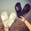 Outdoor bathroom shower slippers couple anti-skid slippers summer men and women cool black interior