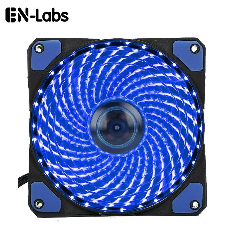 En-Laboratoires 120mm PC Ordinateur 16dB Ultra Silencieux 33 Led Case Fan  Radiateur Refroidisseur De Refroidissement w Anti-vibrations, 12 CM  Ventilateur, ... 7eff0d4bb07