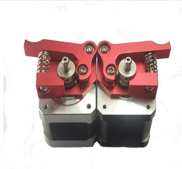 Reprap Prinrbot Replicator Dual head kit ,3D printer all metal Extruder Upgrade kit, including 2 motors