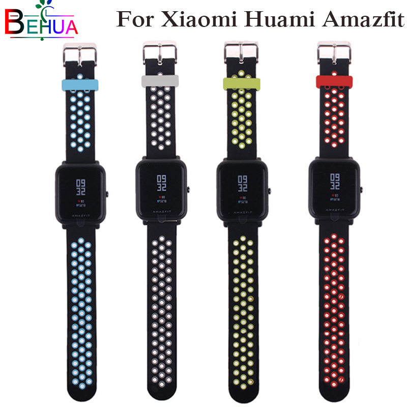 Classic fashion sports silicone wrist band millet for huami Amazfit Bip BIT PACE Lite youth smart watch with replacement 20mm