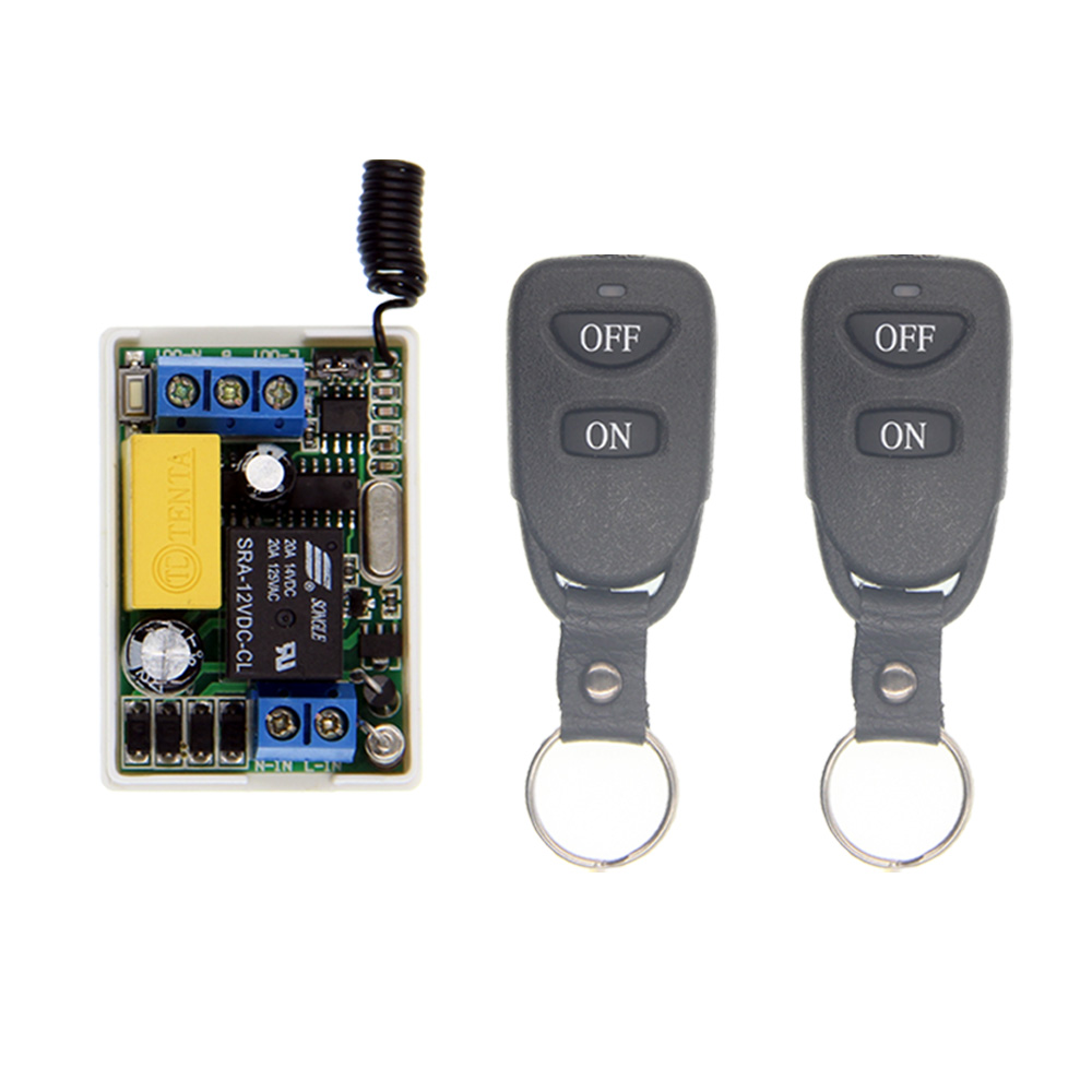 Mini Wireless RF Remote Control Light Switch 10A Relay Output Radio AC 220V 1 CH Channel 1CH Receiver Module +Transmitter new ac220v 1 ch wireless remote control lighting switch 10a relay mini receiver and 2keys remote controller for lights